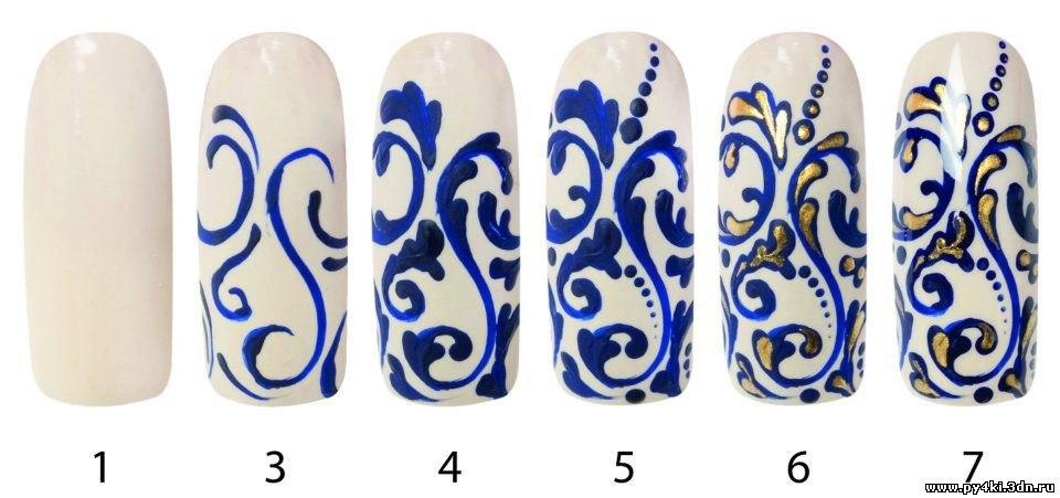 Росписи на ногтях для начинающих пошаговое